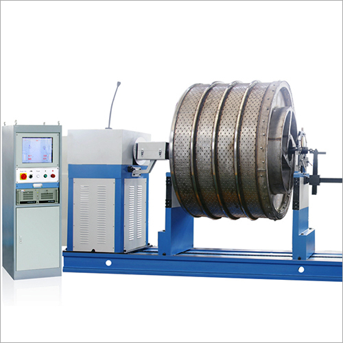Industrial Fan Impeller Universal Joint Drive Balancing Machine