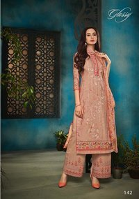Cotton Embroidery Work Suits