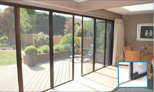 Barrier Free Mesh Door