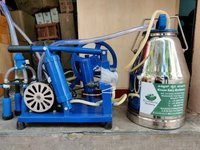Hand cum electric operated milking machine