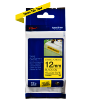 Brother Genuine Black on Yellow P-Touch Tape(TZe-S631)
