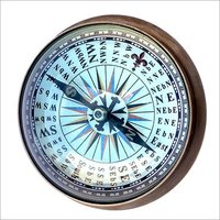 Brass Compass with Magnifying Glass & Spin Dial Paper Weight compass
