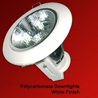 Polycarbonate Downlights White Finish