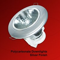 Polycarbonate Downlights Silver Finish