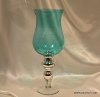 SKY BLUE GLASS FLOWER VASE