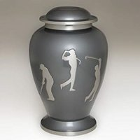 Beautiful Etched Golf Memorial Cremation Urn