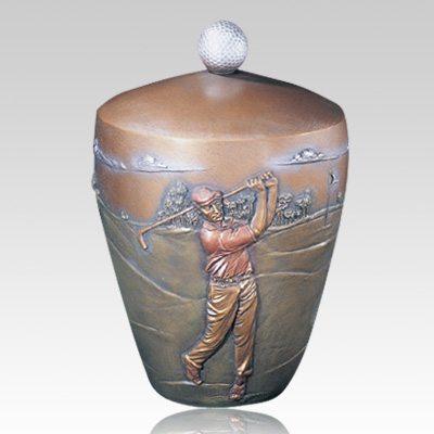 Golfer's Paradise Cremation Urn