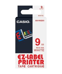 9mm Red on White Casio Tape(G26)