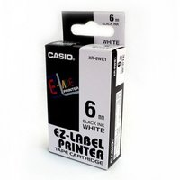 6mm Black on White Casio Tape(CG83)