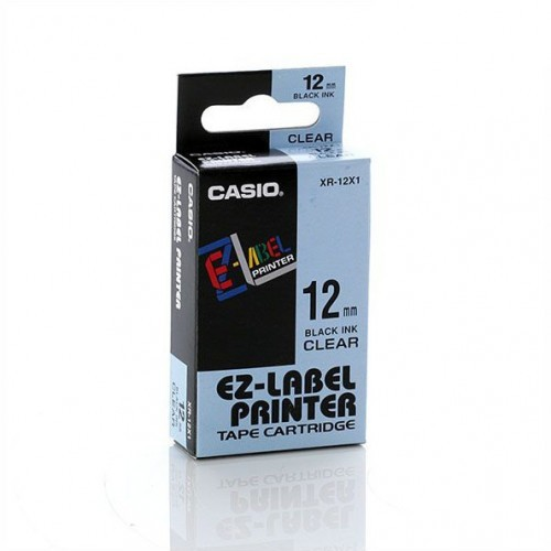 12mm Black on Clear Casio Tape(CG86)