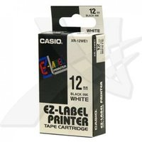 12mm Black on White Casio Tape(G31)