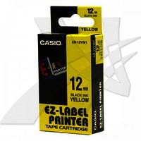 12mm Black on Yellow Casio Tape(CG71)