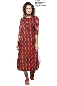 Straight Cotton Kurti