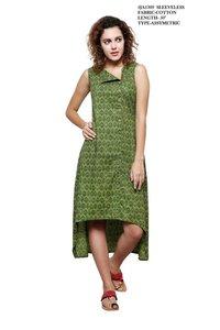 Cotton Green Color Kurti