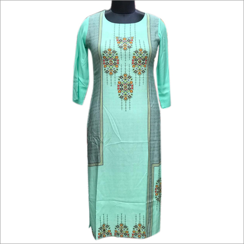 Ladies Cotton Straight Kurtis