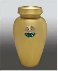 Carlton with Golf Brass Metal Urn