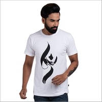 Mens Half Sleeve Graphic Print T Shirt