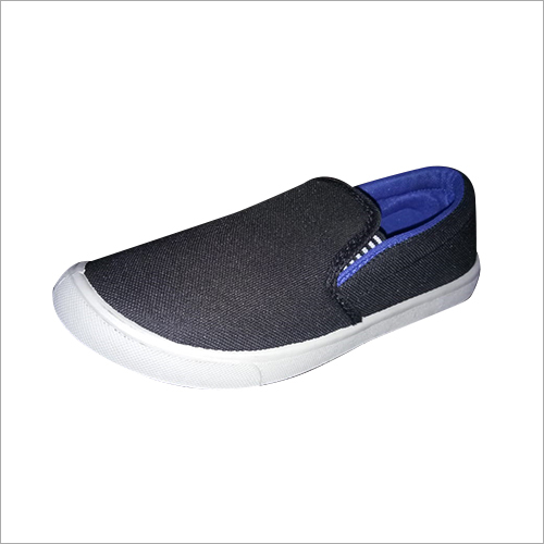 Mens Plain Canvas Loafer Shoes