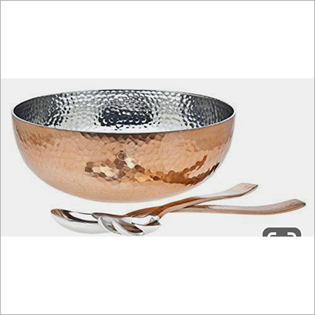 Copper Bowl with Spoons
