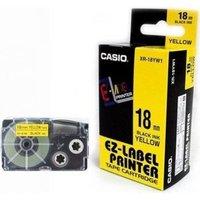 18mm Black on Yellow Casio Tape(G12)