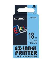 18mm Black on Blue Casio Tape(G23)