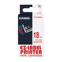 18mm Red on White Casio Tape(G25)