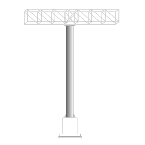 Highway Signage Board Iron Structure