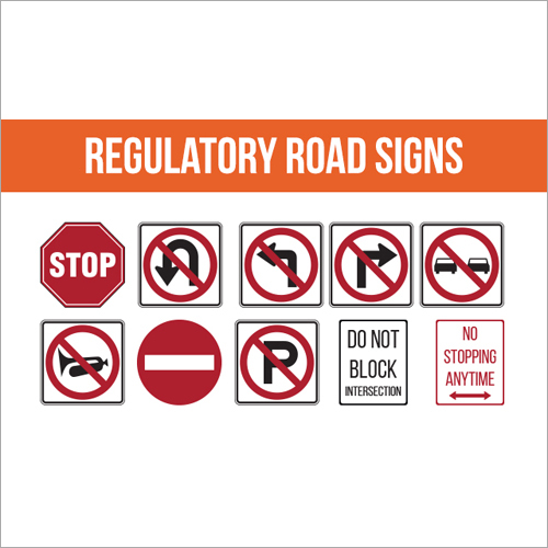 Regulatory Road Signage