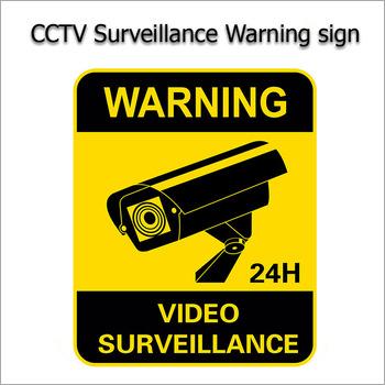 Waterproof CCTV Warning Sticker