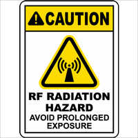 RF Radiation Caution Signage