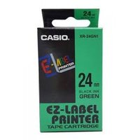 24mm Black on Green Casio Tape(CG73)