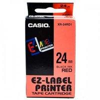 24mm Black on Red Casio Tape(CG74)