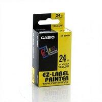 24mm Black on Yellow Casio Tape(G07)