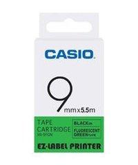 9mm Black on Green Casio Tape(CG45)