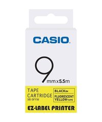 9mm Black on Yellow Casio Tape(CG44)