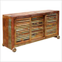 Reclaimed Slatted Sliding Door Sideboard