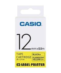 12mm Black on Yellow Casio Tape(CG48)