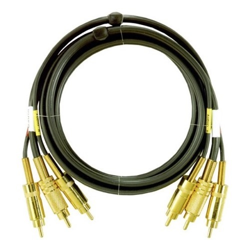 3 RCA To 3 RCA Cable (Metal)