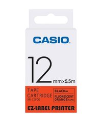 12mm Black on Orange Casio Tape(CG47)