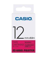 12mm Black on Pink Casio Tape (CG46)