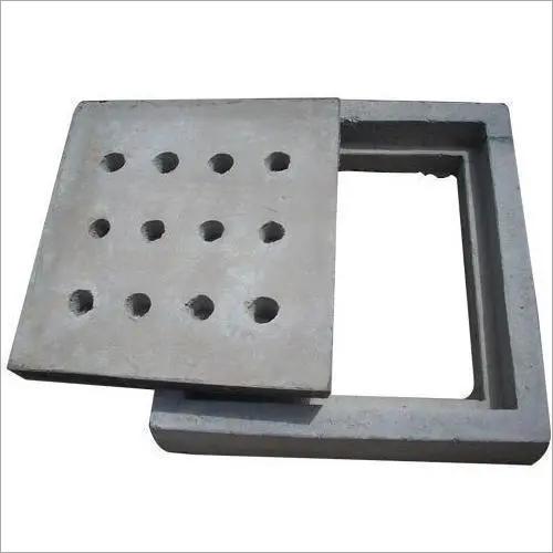 Grey Square Manhole Cover