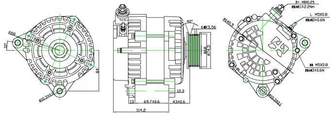 56V 90A Heavy Duty Vehicle Alternator