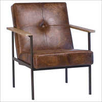 Leather Designer Brown  Chair