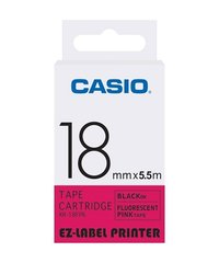 18mm Black on Pink Casio Tape(CG50)