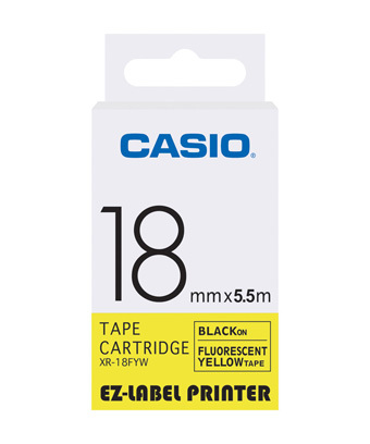 18mm Black on Yellow Casio Tape(CG52)