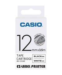 12mm Black on White Casio Tape(CG54)