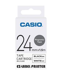 24mm Black on White Casio Tape(CG55)