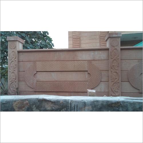 Sandstone Boundary Wall