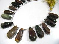 Natural Mookaite Jasper Pear Shape Plain Smooth Briolette beads