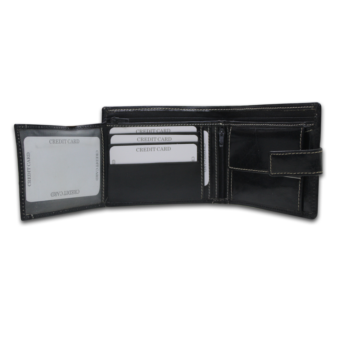 Men RFID Leather Bifold Wallet
